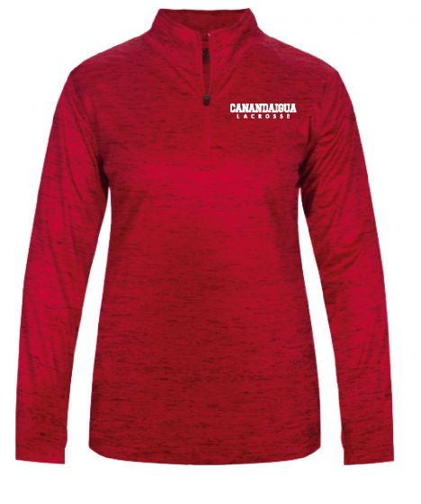 CALAX Red Womens Tonal Blend 1/4 Zip