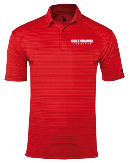 CALAX Red Stripe Polo