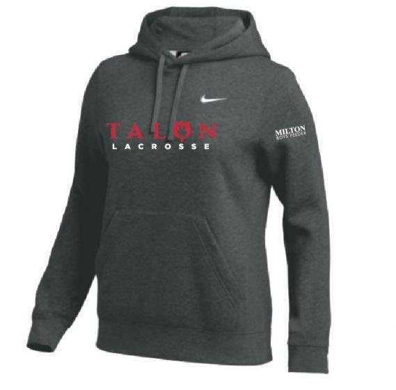 Talon Grey Womens Nike Club Fleece Hoodie