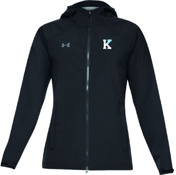 KLC Black Womens UA Storm Rain Jacket