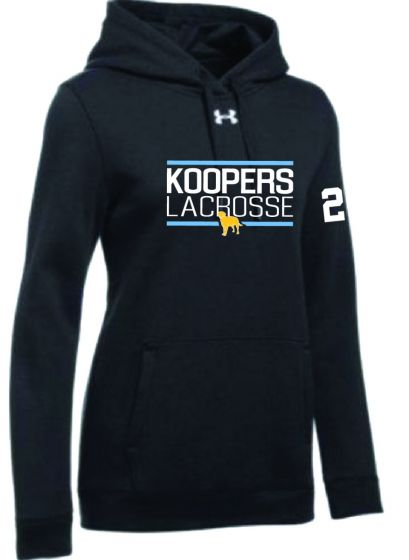KLC Black UA Womens Hustle Fleece Hoody