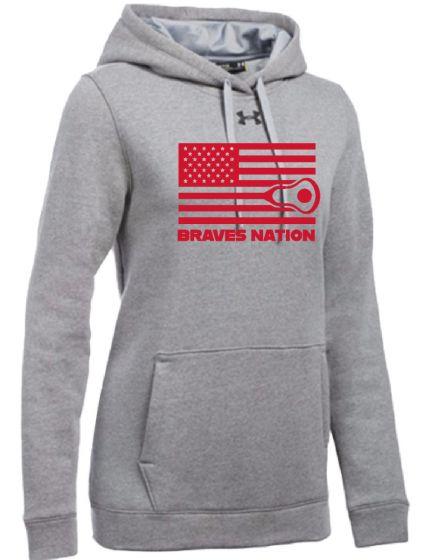 CALAX Grey Womens UA Hustle Fleece Hoodie