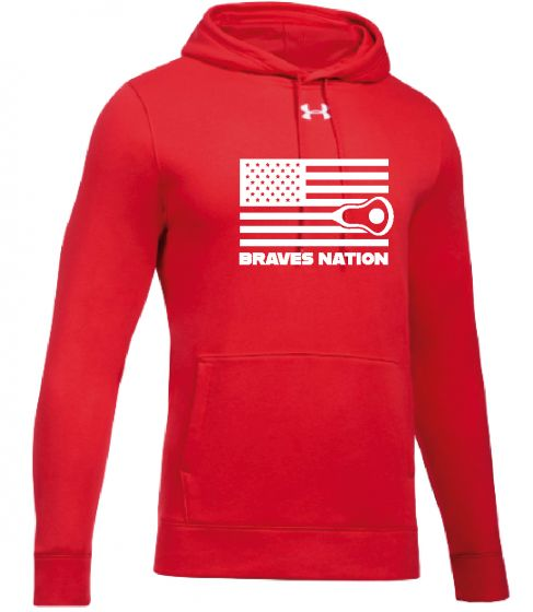 CALAX Red UA Hustle Fleece Hoodie