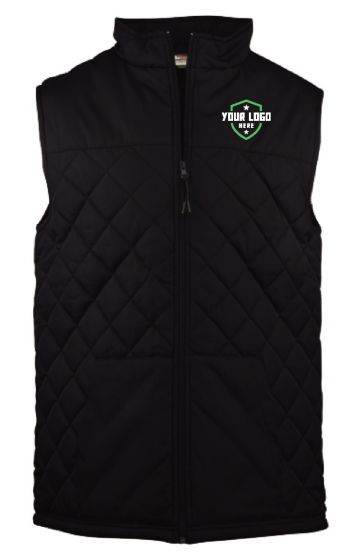 Demo Black Quilted Vest