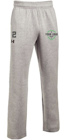 Grey UA Hustle Fleece Pant