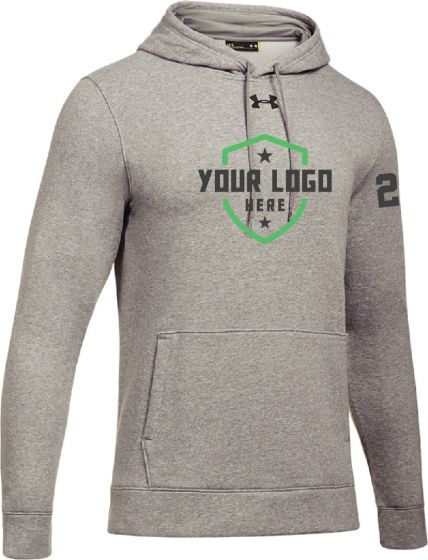 Demo Grey UA Hustle Fleece Hoody