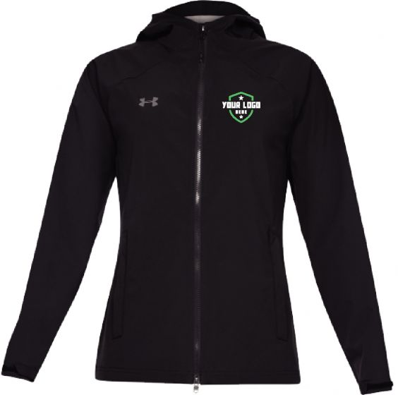 Demo Black Womens UA Storm Rain Jacket