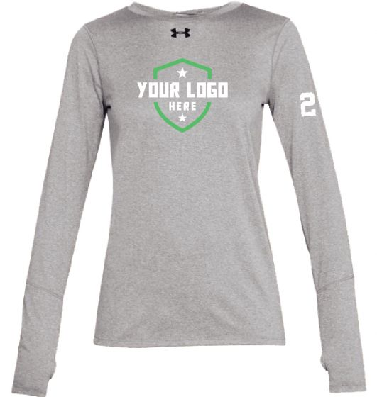 Demo Grey UA Womens LS Locker Tee