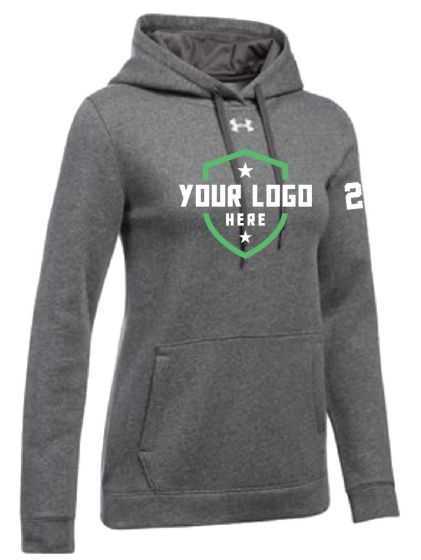 Demo UA Womens Hustle Fleece Hoody