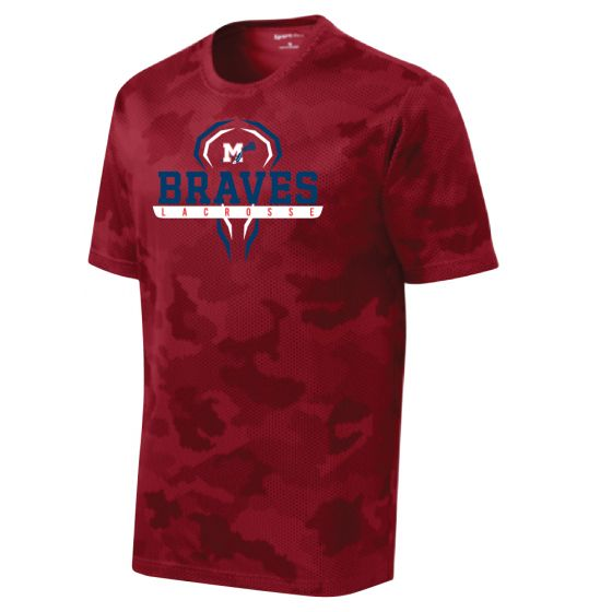 Manalapan HS Lacrosse CamoHex Tee - Red