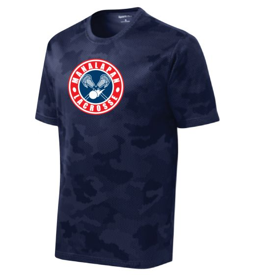 Manalapan Youth Lacrosse CamoHex Tee - Navy
