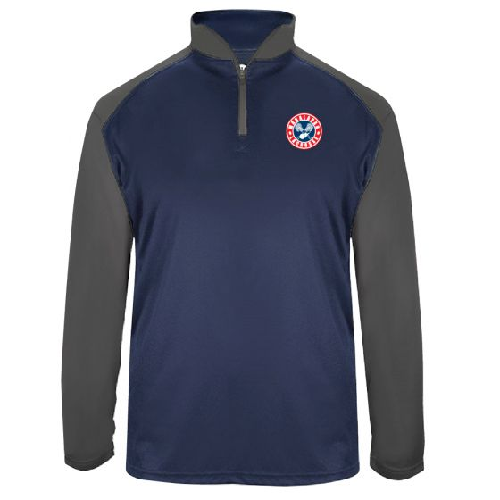Manalapan Youth Lacrosse Mens Training 1/4 Zip - Navy/Graphite