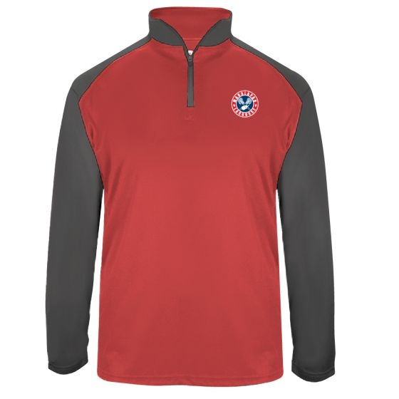 Manalapan Youth Lacrosse Mens Training 1/4 Zip - Red/Graphite