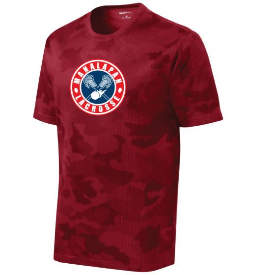 Manalapan Youth Lacrosse CamoHex Tee - Red