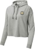 LAF Ladies Tri-Blend Wicking Fleece Crop Hooded Pullover