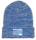 NSSL Royal Heather Knit Roll Up Beanie