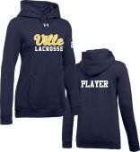 Ville LC Navy Womens UA Hustle Fleece Hoodie