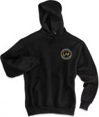 LAF Jerzees Unisex Hooded Sweatshirt Black