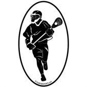 Fast Break Lacrosse Oval Car Magnet