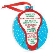 Lacrosse Round Jingle Ornament