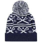 Crossed Sticks Knit Hat