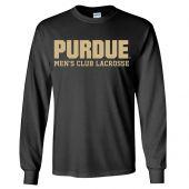 Purdue Men's Long Sleeve Cotton Tee *Black