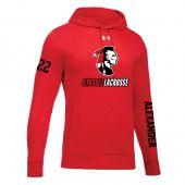 Syosset UA Red Hustle Fleece Hoodie