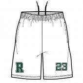 Ridge HS Boys Lacrosse  Mens Game Shorts - White