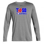 TASO Volleyball Grey UA LS Tee